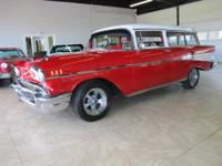 1957 Bel Air 2-door wagon 38,xxx miles red/white