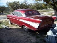 For sale is a 57 Chevy Bel Air 2-door Hardtop. I want