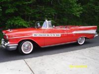 1957 BelAir convertible; Matador Red; excellent