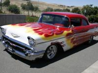 1957 Chevy custom pro street Red paint with hand laid