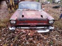 Here is a 1957 Chevy Belair 2 door hardtop, it is going