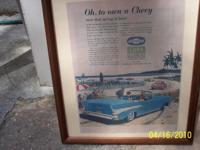 1957 Chevy Conv. Sales Advert $15.00, (16) Corvette &