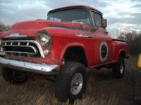 1957 chevy mated to a 1979 GMC Jimmy. 20 k miles on a