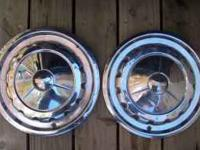 I have 2 each 57 chevy full wheel covers. some dings