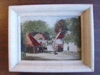 Dated 1957 this Ethel Abingdon painting of a small town