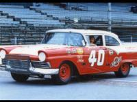 1957 Ford Grand National Stock Car and Trailer. Ran the