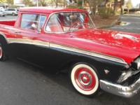 1957 Ford Ranchero, good red or black paint on nice