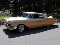 1957 Ford Sunliner Fairlane 500 Convertible. Coral and
