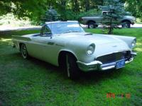 1957 Ford T-Bird (CT) - $30,000 Exterior: White