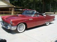 1957 Ford Thunderbird. Bronze Both Tops. Full power,