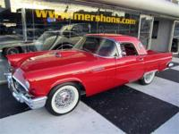 1957 Thunderbird Complete Frame off Restoration. Red