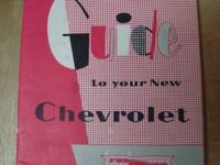 I am selling a 1957 Guide to your new Chevrolet
