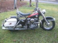 1957 FL Panhead. It is nearly all original other than