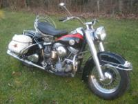 @ 1957 FL Panhead. It is nearly all original except for