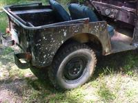 Very limited use 1957 Alabama Rural Mail Jeep (tailgate