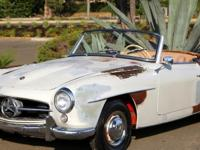 1957 Mercedes 190sl, excellent original metal and
