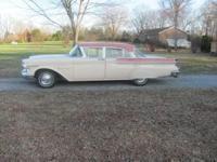 This 1957 Mercury Monterey has a 312 V8 with automatic