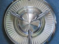 1957 Pontiac Bonneville Spinner Hubcaps, License Plate