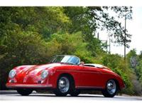 This 1957 Porsche 356 Speedster 2dr Replica . It is
