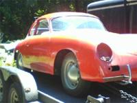 1957 Porsche 356A Coupe. Red with black interior. This