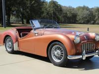 This is a solid, original 1957 Triumph TR-3 that runs