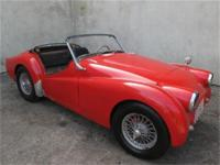 1957 Triumph TR3 1957 Triumph TR3, Red with black