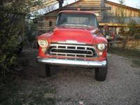 For sale western Colorado 57 chevy 4x4, 350/350, dana