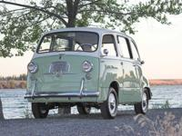 1957 Fiat 600 Multipla Minivan. This is an older car
