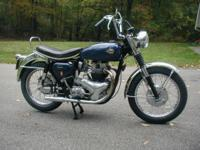 1958 BSA A10 Super Rocket.Pre-unit 650cc with four