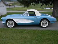 1958 Chevrolet Corvette Convertible, 283 ci GM# 3756519