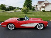 1958 Chevrolet Corvette  convertible Red Numbers