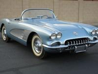 1958 Chevrolet Corvette Convertible. Equipped with a
