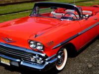 1958 Impala Convertible, Rio Red with Tri-Color