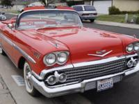 1958 Chevrolet Impala Convertible Rio Red (923a)
