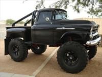 ONE OF A KIND 1958 CHEVROLET APACHE 4X4 MUD BOGGER!!!