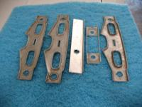 These are misc. dash trim pieces for 1958 impala belair