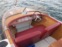 1958 18 foot Continental Chris Craft boat. Exterior was