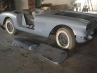 1958 corvette project, frame an body done, a no hit