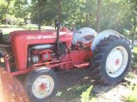 early 1958 Ford 4-cylinder diesel tractor, engine runs