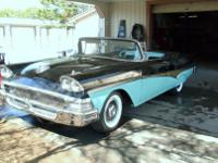 1958 Ford Fairlane 500 Sunliner Convertible. -This car