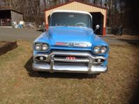 -Rare 1958 pickup with the Big Back Glass, this is a