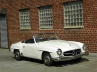 1958 Mercedes 190SL. White with black interior. Very
