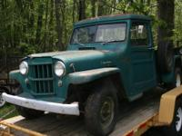 This is a Great running 1958 Willys Pickup. Kaiser