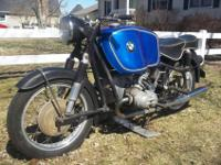 very original and complete 1958 BMW R69. According the