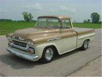 1958 Chevrolet Apache shortbox pickup. Professionally