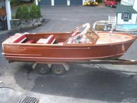 1959 24ft Chris Craft Sportsman with a single 283 V-8 .