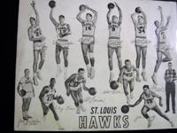 "8"" X 10"" original photo of the STL Hawks 1959-60"