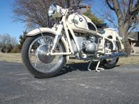 1959 BMW R50 Motorcycle. This motorcycle was restored.