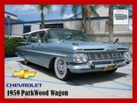 1959 Chevrolet Parkwood. Original colors in and out.