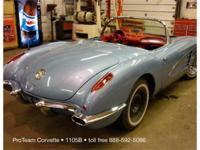 1959 Corvette Convertible, 283-245 hp, (2x4's) with